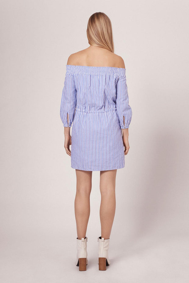 Rag & Bone R&B - STRIPE DREW DRESS W272D40DU BLUE/WHT STP 961 at Blond Genius - 3