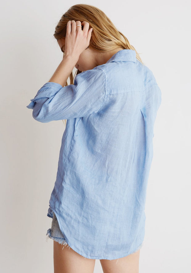 Bella Dahl - Pocket Button Down Santorini Blue