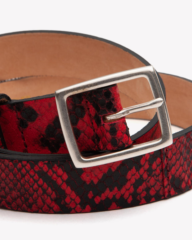 Rag & Bone - Boyfriend Belt in Red