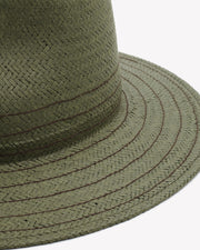 Rag & Bone - Packable Straw Fedora in Olive
