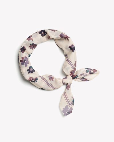 Rag & Bone - Floral Bandana in Ivory Multi