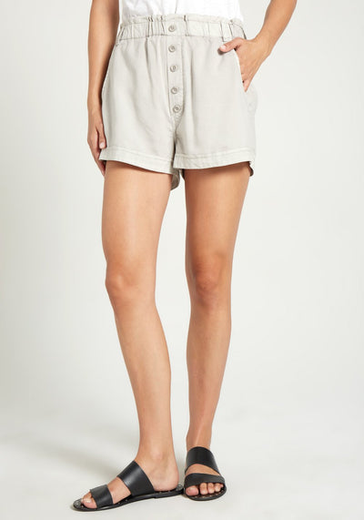 Bella Dahl - Button Front High Waisted Shorts in Paloma