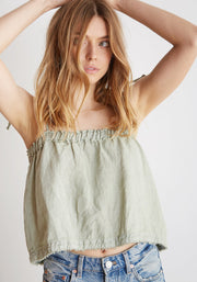 Bella Dahl - Ruffle Top Tied Cami Hillside