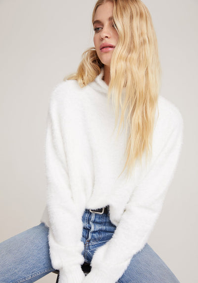 Bella Dahl - Mock Neck Sweater in Winter White
