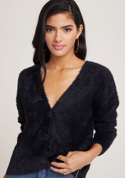 Bella Dahl - Sweater Cardigan in Black