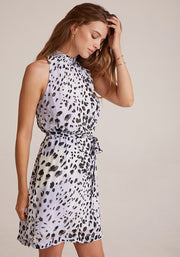 Bella Dahl - Smocked Collar Belted Dress in Ink Dots