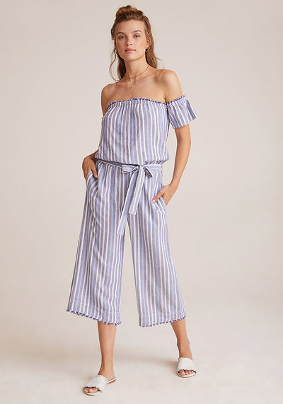 Bella Dahl - Off Shoulder Jumpsuit in Navy
