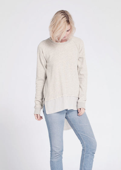 Wilt - Oversized Sweatshirt W/ Shirting Mix Hem