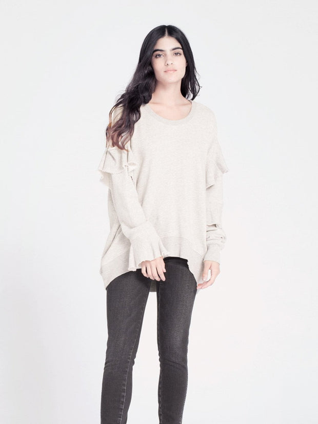 WILT - Raw Ruffle Big Sweatshirt