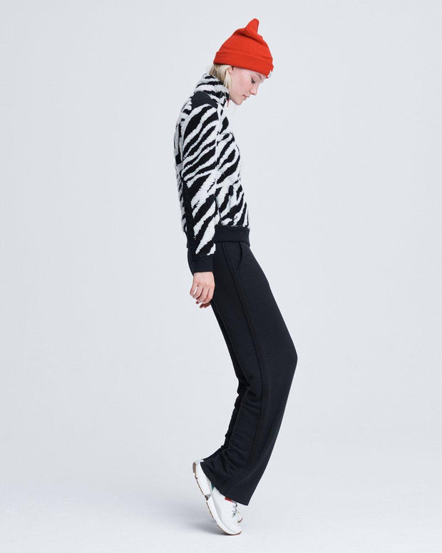 Rag & Bone - Zebra Half Zip Pullover in Black/White