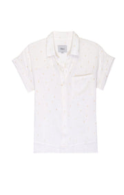 RAILS - Whitney Short Sleeve Shirt in White Golden Cactus