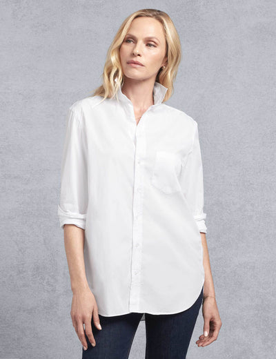 Frank & Eileen - Women's Button Down Shirt in White Piumino
