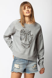 Zadig & Voltaire - Champ Cannetille Sweatshirt in Gris Chine