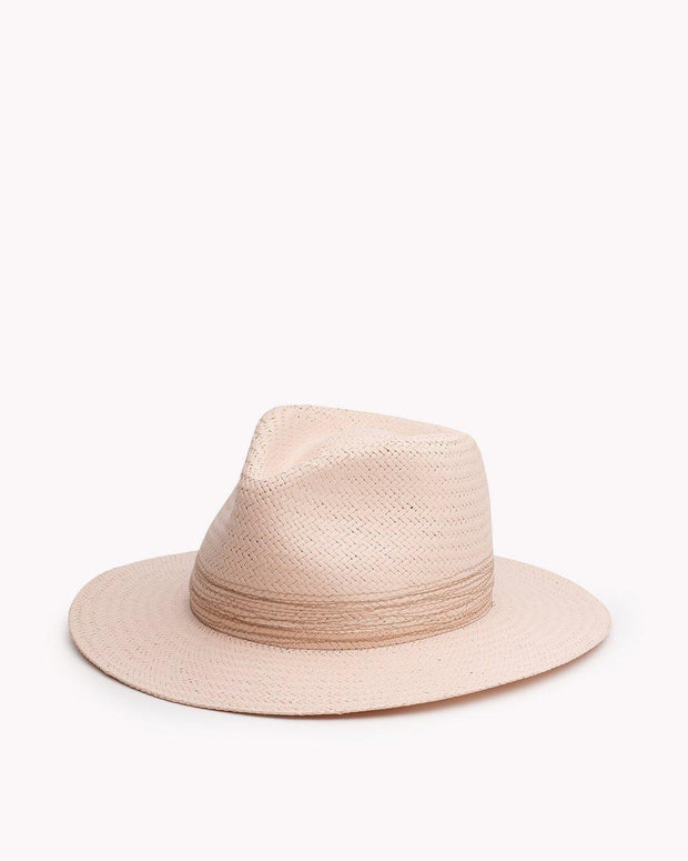 Rag & Bone - Packable Straw Fedora in Blush