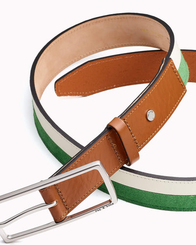 Rag & Bone - Rebound Belt in Antique White and Lime
