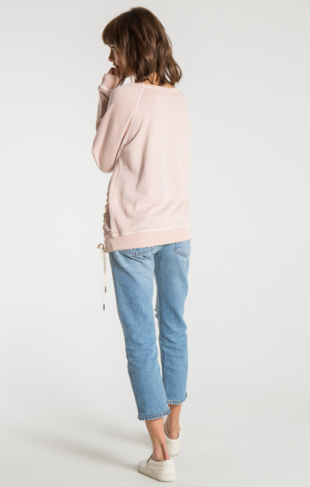 n:Philanthropy - Mika Lace Up Sweatshirt Rose