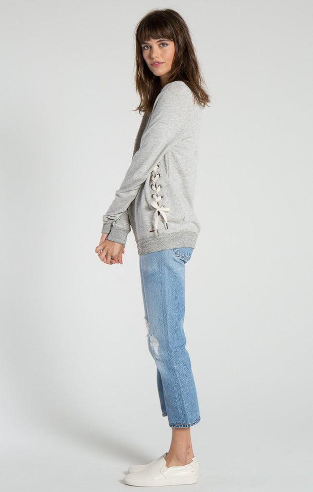 n:Philanthropy - Shadow Eyelet Sweatshirt Heather Grey