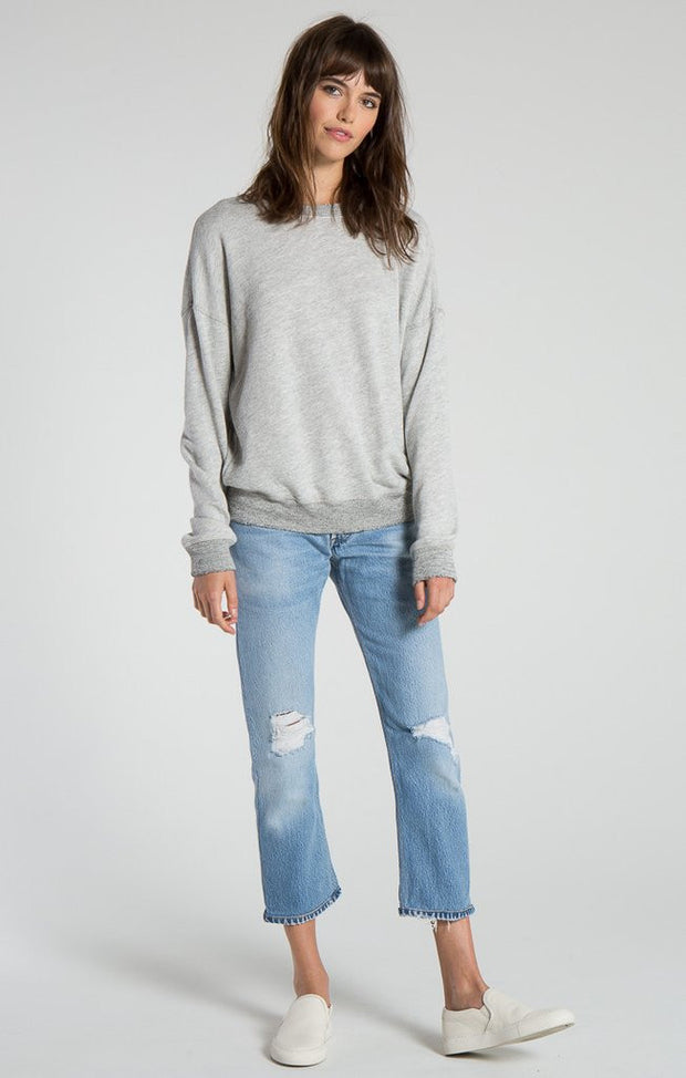 n:Philanthropy - Kali Lace Back Sweatshirt Heather Grey