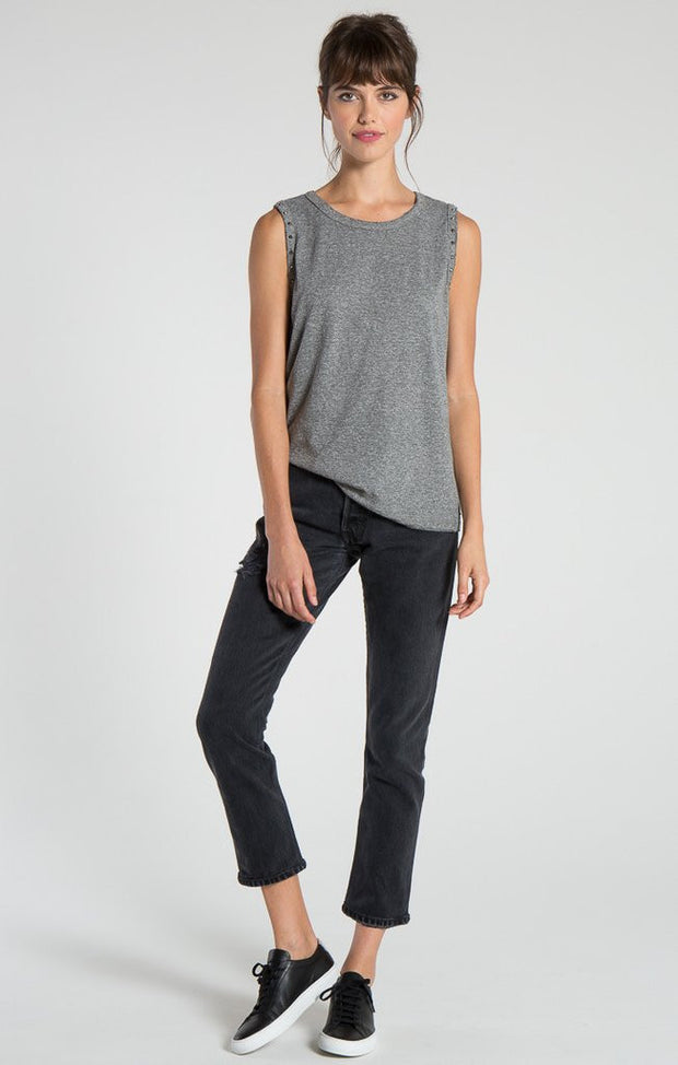 n:Philanthropy - Edith Muscle Tank With Studs Heather Grey