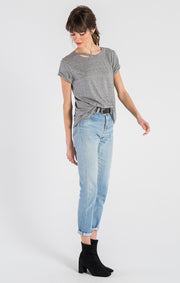n:Philanthropy - Harlow Distressed BFF Tee Heather Grey