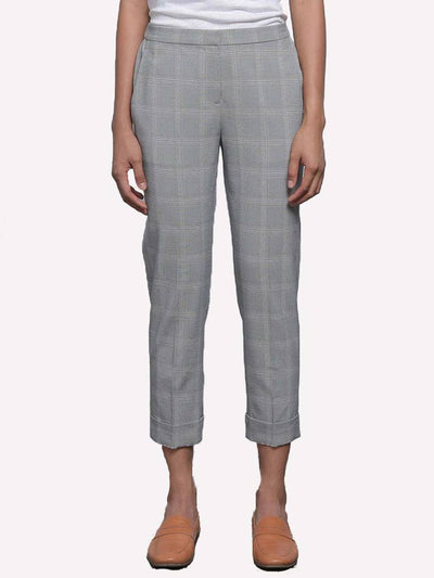 BROCHU WALKER - Westport Plaid Pant in Grey Plaid