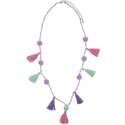 Henny & Coco - Maya Tassel Necklace in Pink and Purple