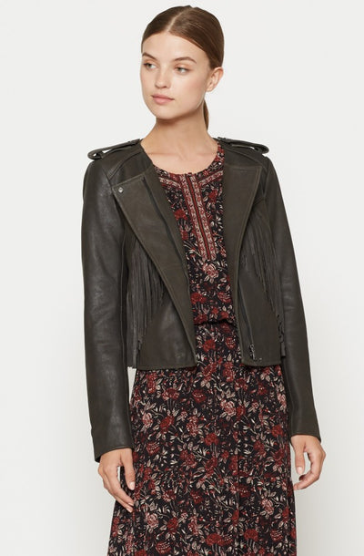 Joie JOIE - Zeno Leather Jacket at Blond Genius - 1