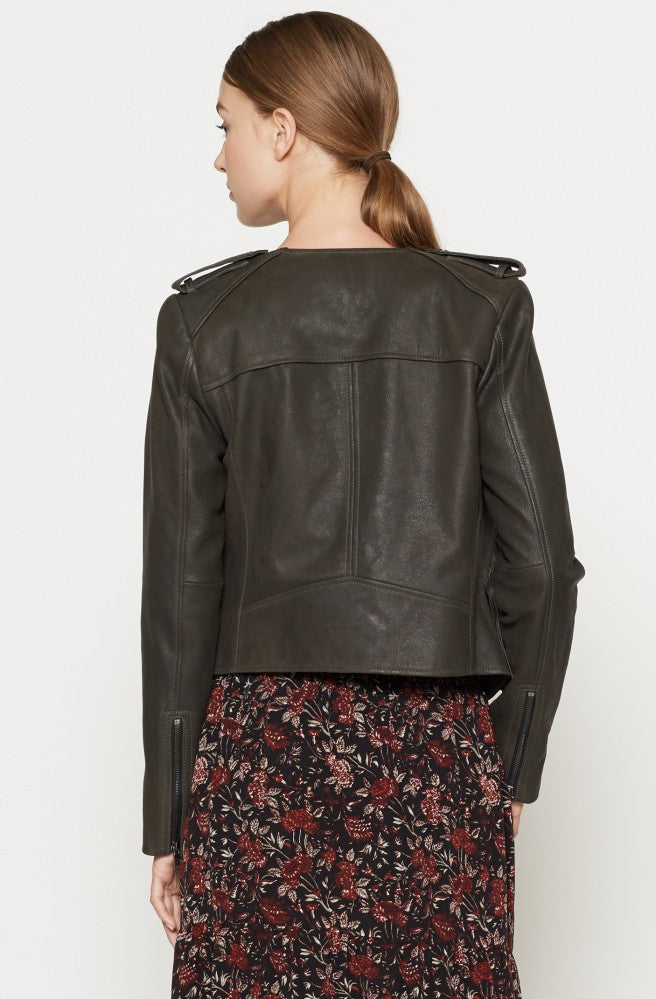 Joie JOIE - Zeno Leather Jacket at Blond Genius - 2