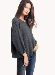 Ella Moss - Ribbed Pullover in Heather Cinder