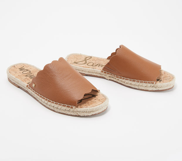 Sam Edelman - Andy Leather Slide in Brown