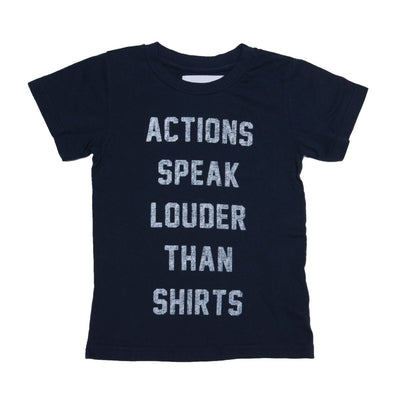 Sol Angeles - Kids Actions Crew Tee in Indigo
