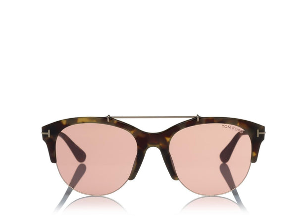 Tom Ford - Adrenne Havana/Gradient Mirror Violet