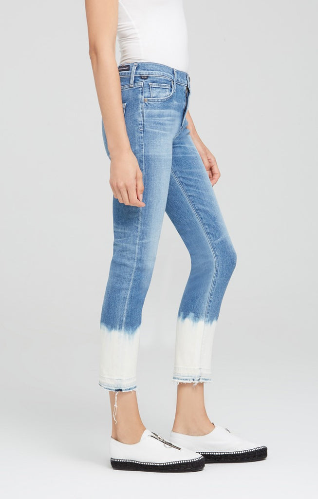 Citizens of Humanity - Agnes Crop Mid Rise Slim Straight Pacifica Bleach