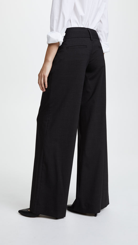 Alice & Olivia - Eric Front Pleat Wide Leg Pant