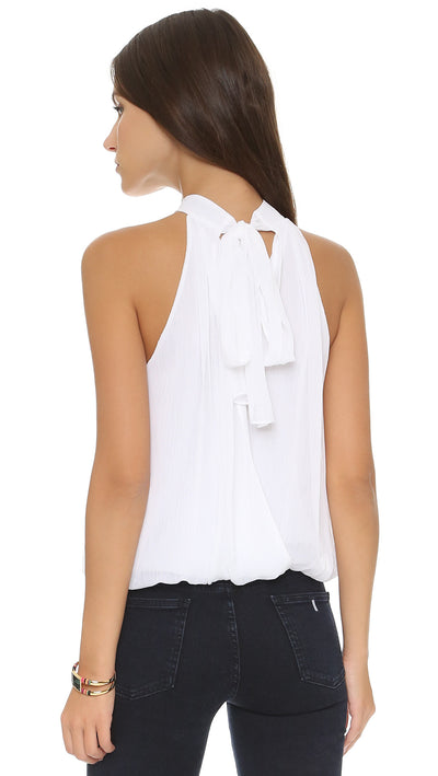 Alice + Olivia Maris Halter Neck Gathered Top at Blond Genius - 1