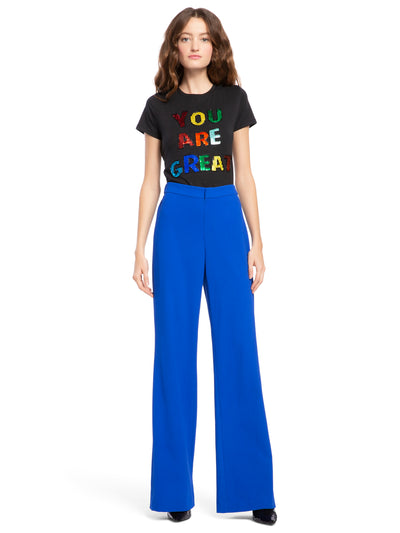 ALICE + OLIVIA - Bo Pull Up Pant Cobalt