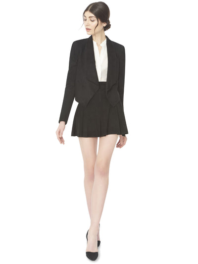 Alice + Olivia Harvey Suede Open Front Jacket at Blond Genius - 1