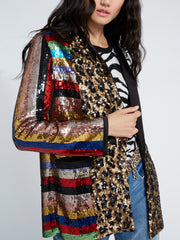 ALICE + OLIVIA - Kylie Sequin Shawl Collar Jacket Black/Multi