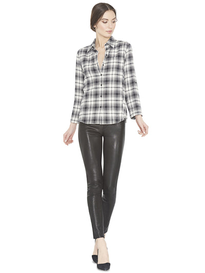Alice + Olivia Piper Button Down Cream/Black at Blond Genius - 1