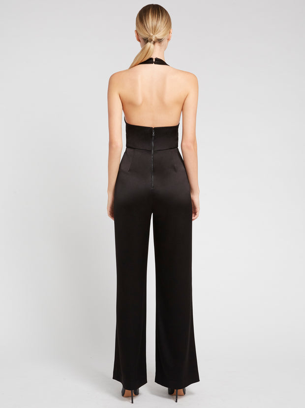 Alice + Olivia - Salem Cowled Halter Jumpsuit Black