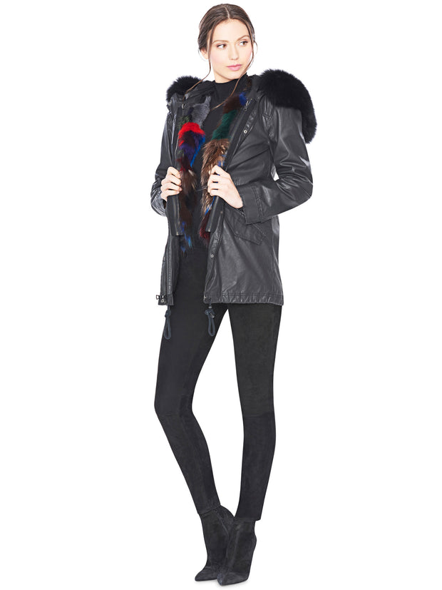 Alice + Olivia Alice + Olivia - Tandy Oversize Parka Black at Blond Genius - 1