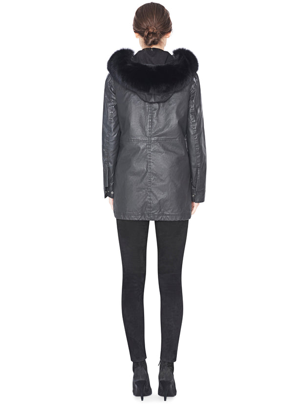 Alice + Olivia Alice + Olivia - Tandy Oversize Parka Black at Blond Genius - 2