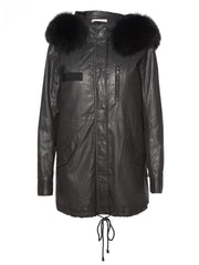 Alice + Olivia Alice + Olivia - Tandy Oversize Parka Black at Blond Genius - 3