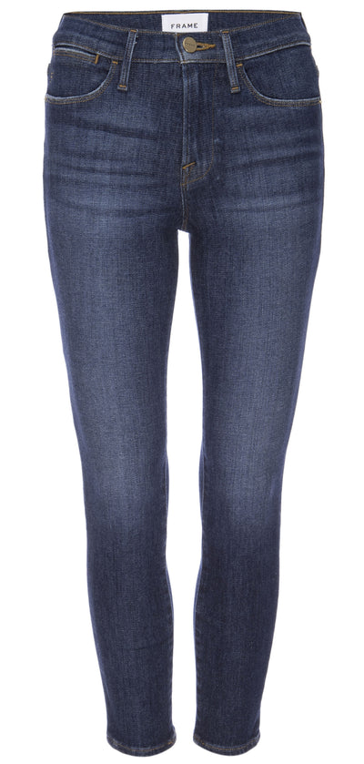 Frame Denim - Le High Skinny Jeans Crop in Allesandro
