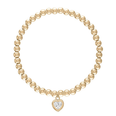 "Alexa Leigh - 7.5"" 4mm All My Heart Bracelet in Yellow Gold"