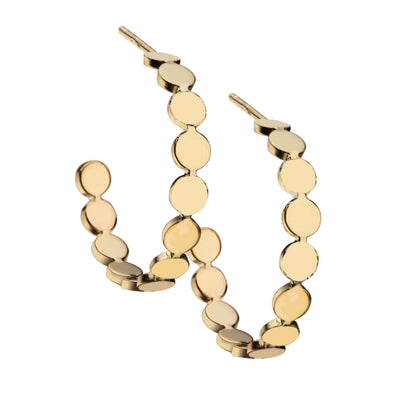 Jennifer Zeuner - Margaux Small Hoop Earrings in 15k Yellow Gold Plated Silver