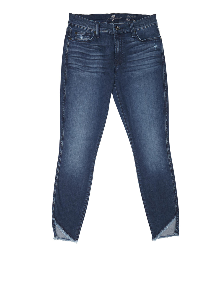 7 For All Mankind - Ankle Skinny Angled Hem