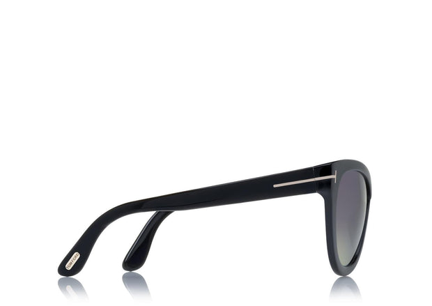 Tom Ford - Arabella Shiny Black/Smoke Polarized