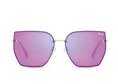 Quay Sunglasses - Around the Way in Rose/Pink Mirror