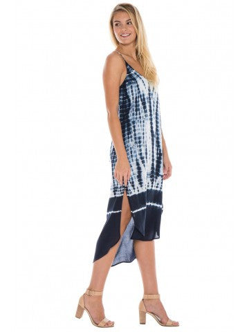 Bella Dahl Bella Dahl - Tie Back Dress Tidal Wave Tie Dye at Blond Genius - 2